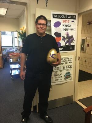 The Golden Egg was found by David Carpio