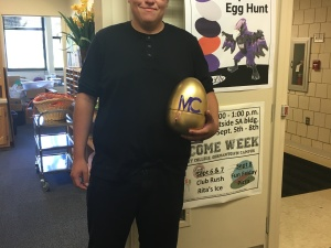 The Golden Egg was found by David Carpio